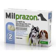 MILPRAZON CAINE 2.5MG/25MG (<5KG) X 2 TABLETE