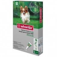Advantix 40 - Pipeta Antiparazitara Caini (<4 kg) - 1 Pipeta