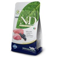 N&D Cat Adult LOW GRAIN Miel si Afine 10 kg