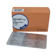 VETMEDIN 5 MG - 50 TABLETE MASTICABILE