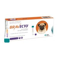 BRAVECTO CAINE SOLUTIE SPOT-ON S 250MG (>4.5-10 KG) - 1 PIPETA