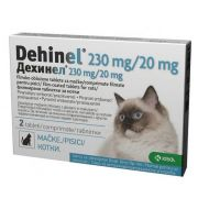 DEHINEL PISICA CAT 230 MG / 20 MG - 2 COMPRIMATE