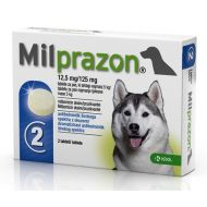 MILPRAZON CAINE 12.5MG/125MG (5-25 KG) X 2 TABLETE