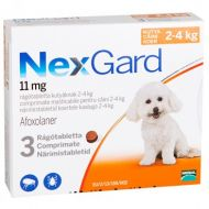 Nexgard Small Dog Caine 11Mg (2-4Kg) - 3 Comprimate Masticabile
