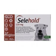 SELEHOLD DOG 120 MG / ML (10.1 - 20 KG) 3 PIPETE x 1 ML