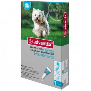Advantix 100 - Pipeta Antiparazitara Caini (4-10 kg) - 1 Pipeta